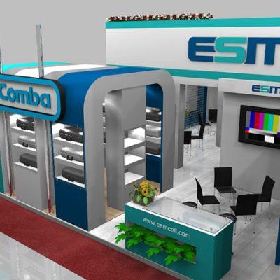 طراحی غرفه نمایشگاهی صنعت میانه