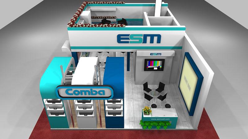طراحی غرفه اتصال صنعت میانه