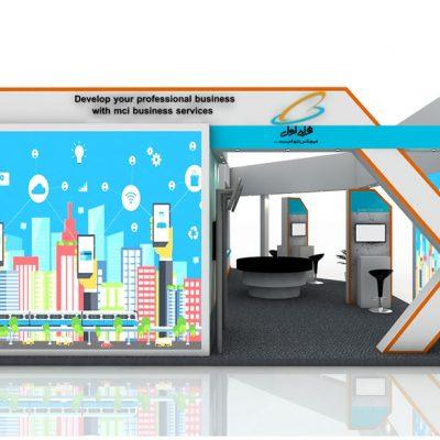 طراحی غرفه نمایشگاهی همراه اول